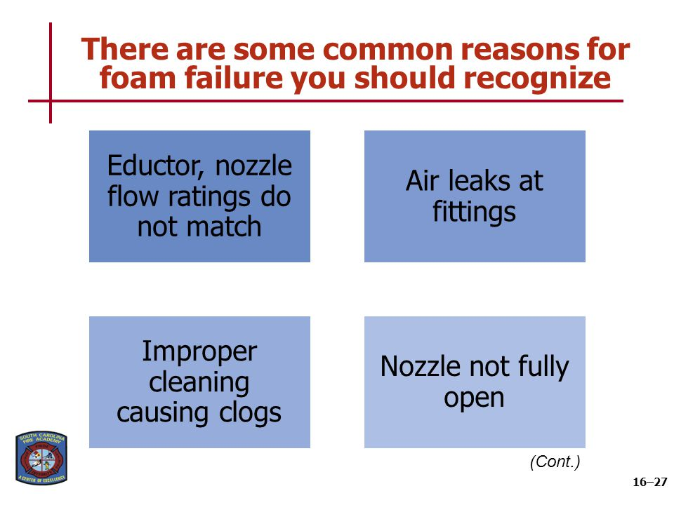 There are some common reasons for foam failure you should recognize