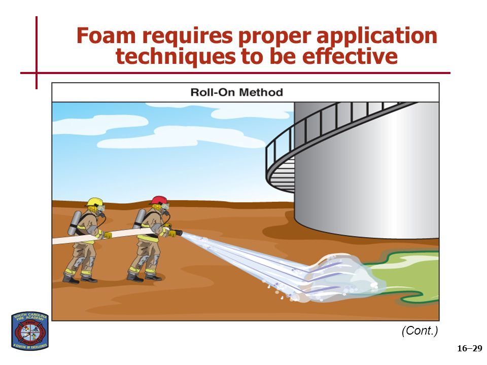 Foam requires proper application techniques to be effective