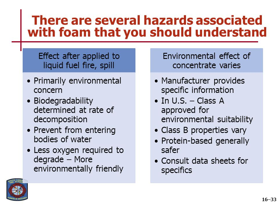 Summary Firefighters must know the differences between the types of foam used by their departments.