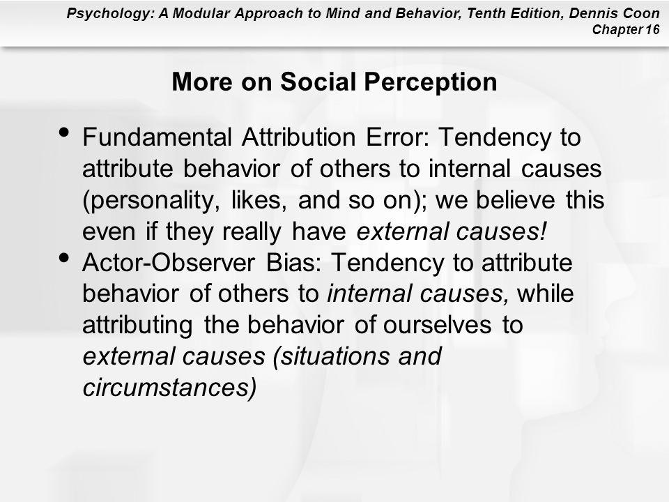 More on Social Perception