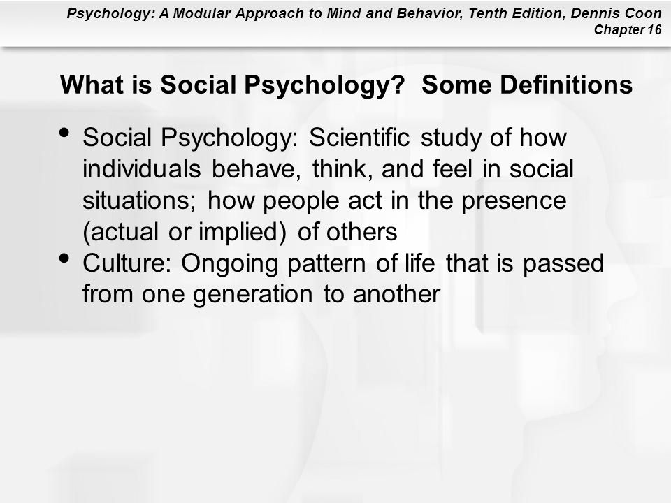 What is Social Psychology Some Definitions
