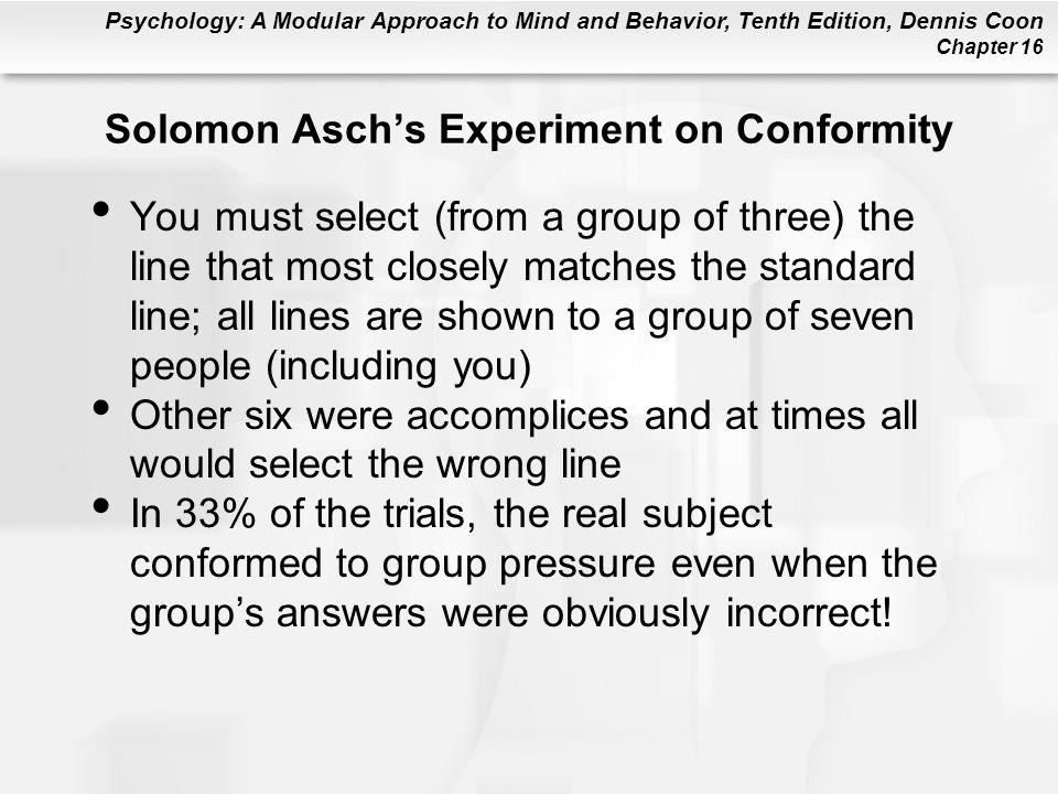 Solomon Asch's Experiment on Conformity