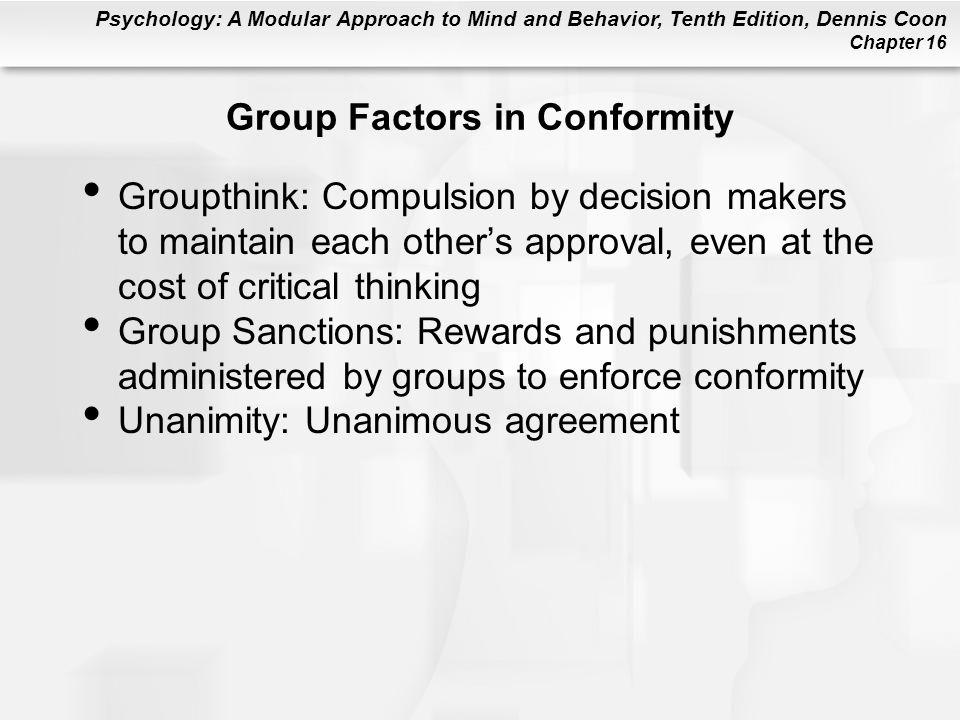 Group Factors in Conformity