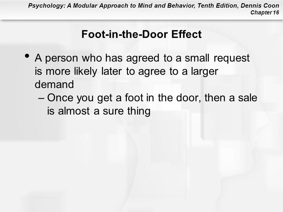Foot-in-the-Door Effect