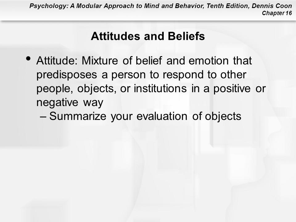 Attitudes and Beliefs