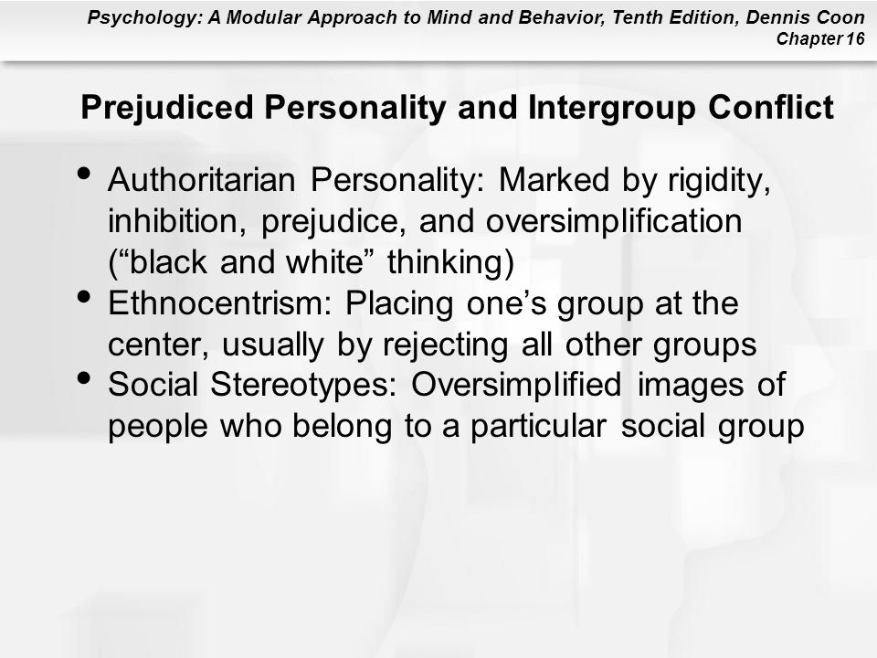 Prejudiced Personality and Intergroup Conflict