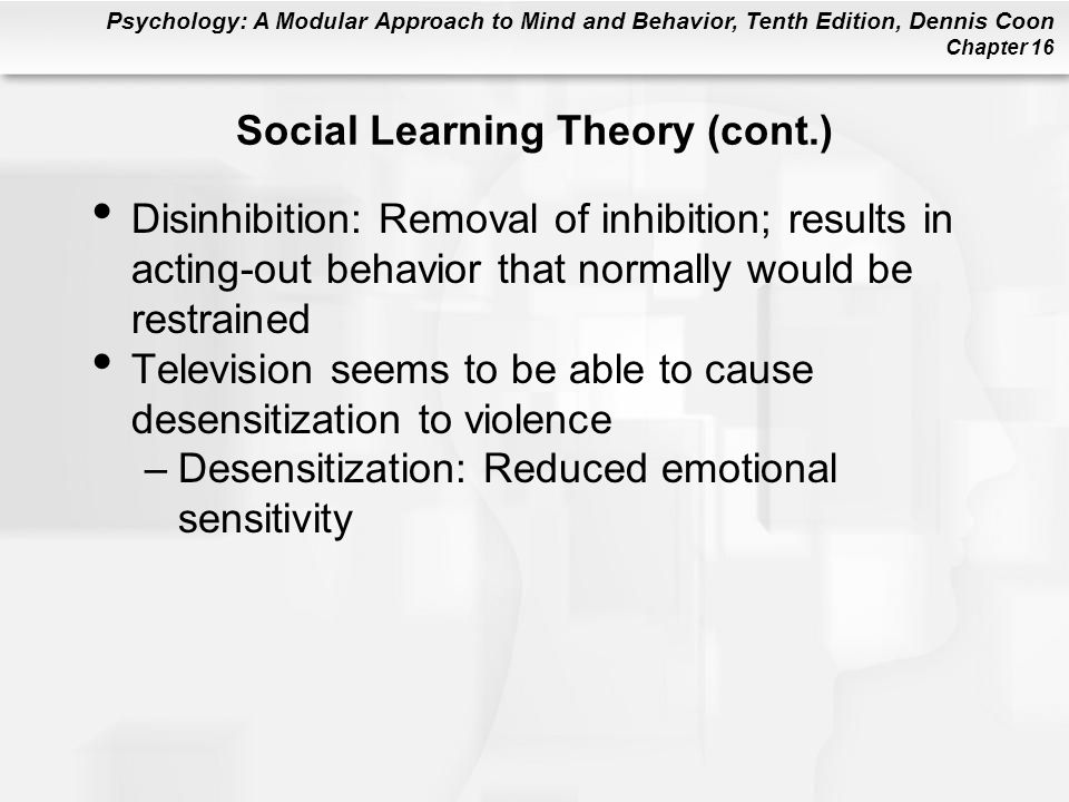 Social Learning Theory (cont.)