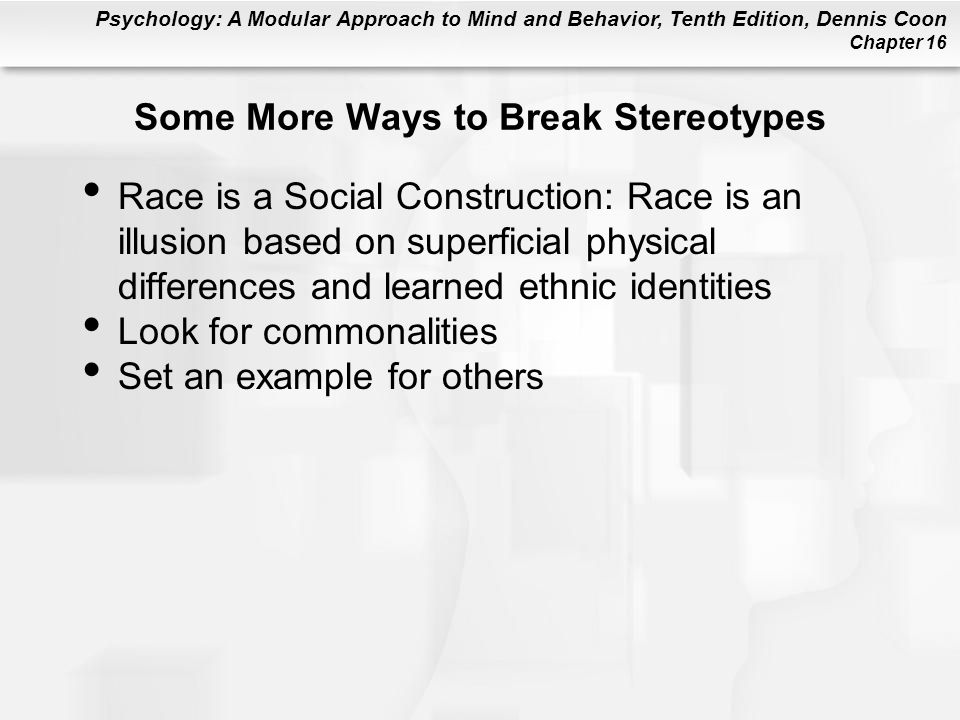 Some More Ways to Break Stereotypes