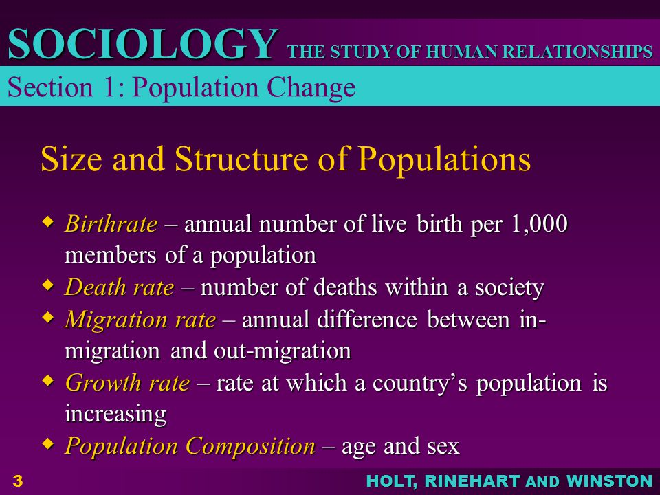 Size and Structure of Populations