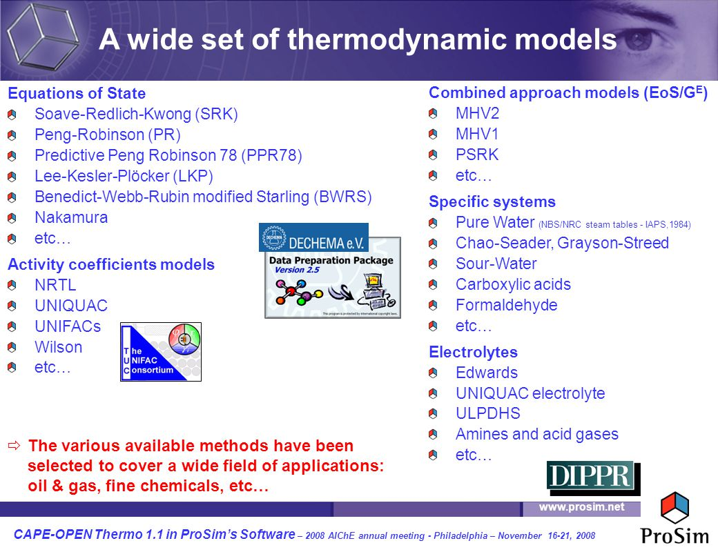 A wide set of thermodynamic models