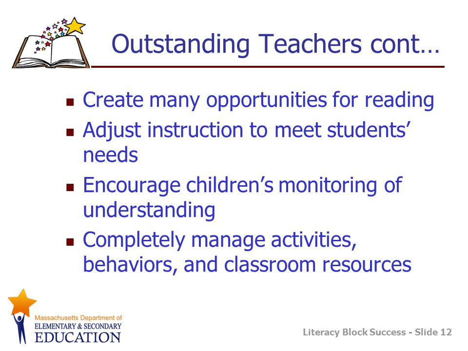 Outstanding Teachers cont…