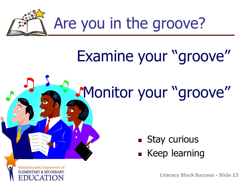 Examine your groove Monitor your groove