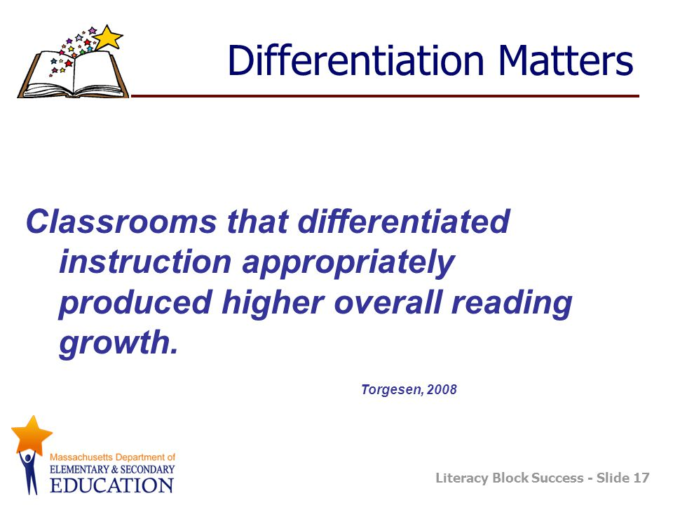 Differentiation Matters