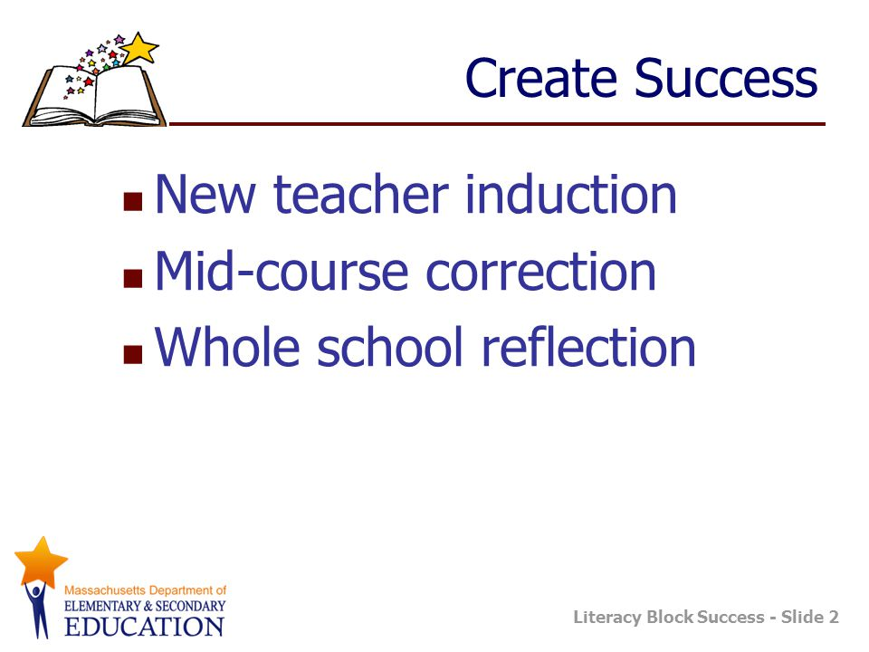 Mid-course correction Whole school reflection