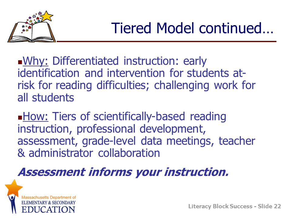 Tiered Model continued…