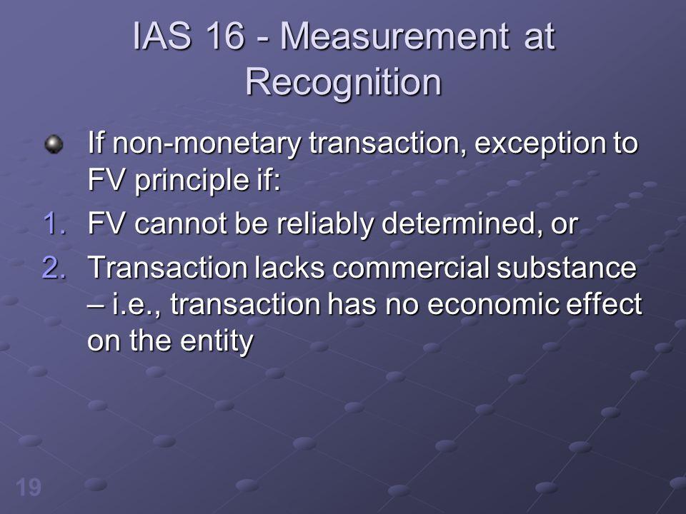 IAS 16 - Measurement at Recognition