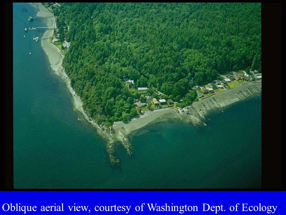 Oblique aerial view, courtesy of Washington Dept. of Ecology