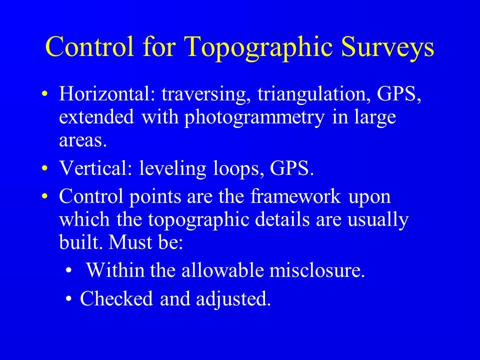 Control for Topographic Surveys