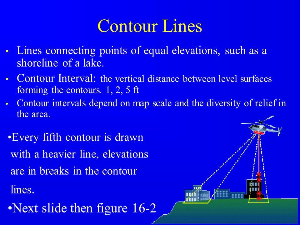 Contour Lines Next slide then figure 16-2