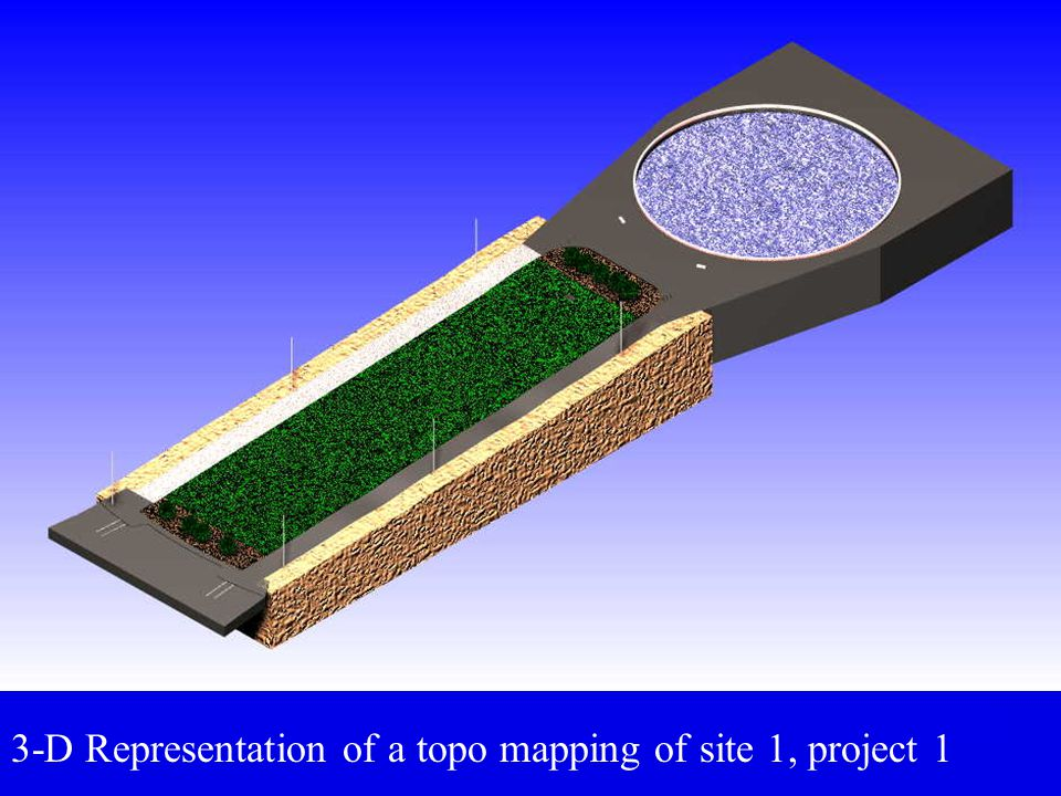3-D Representation of a topo mapping of site 1, project 1