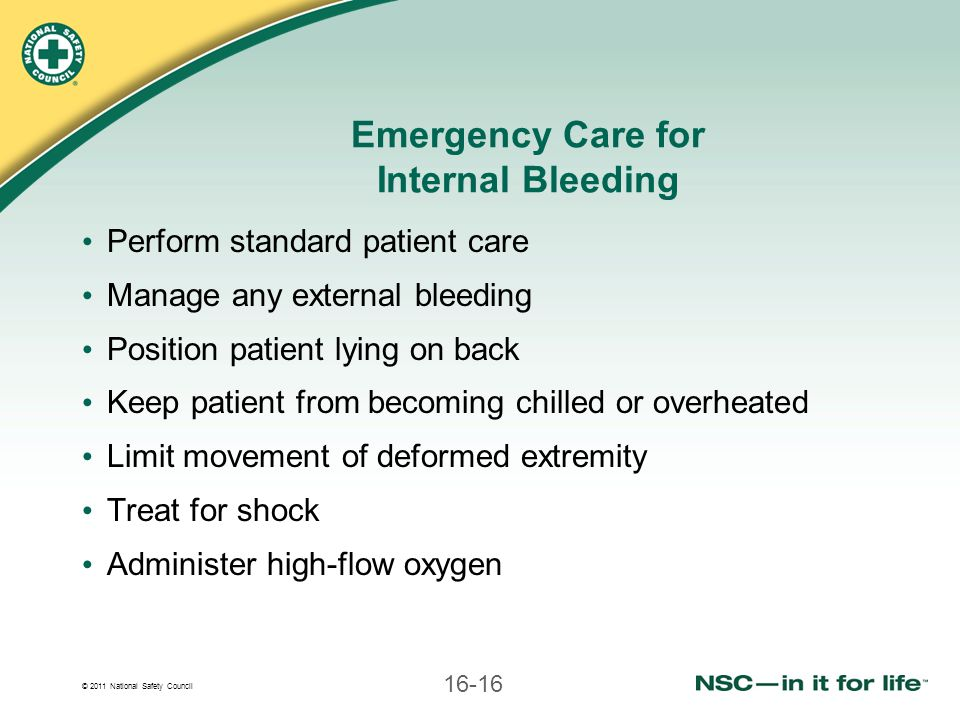 Emergency Care for Internal Bleeding