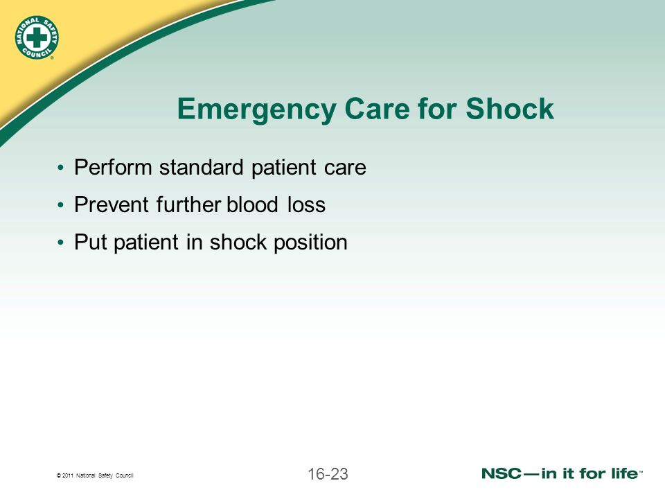 Emergency Care for Shock