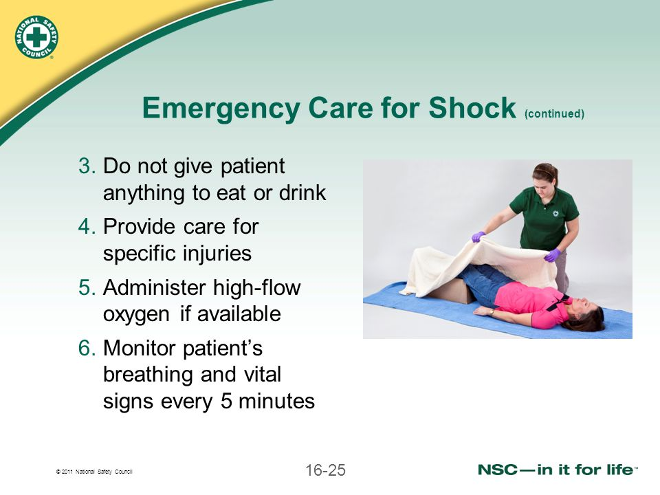 Emergency Care for Shock (continued)