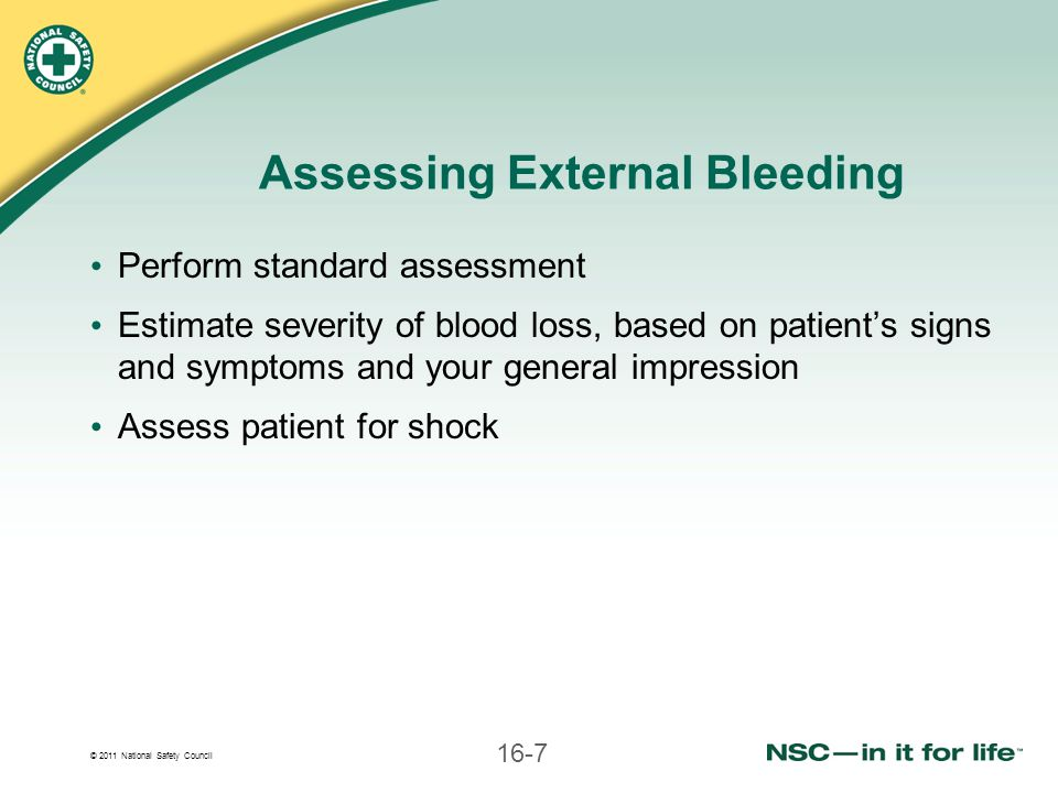 Assessing External Bleeding
