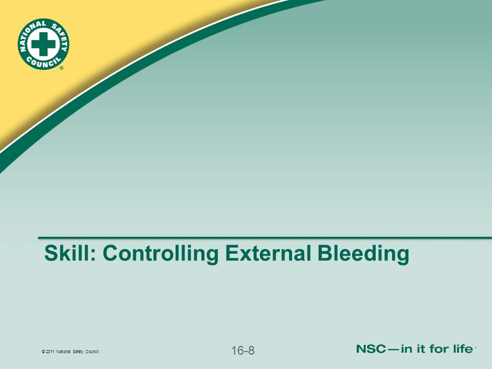 Skill: Controlling External Bleeding