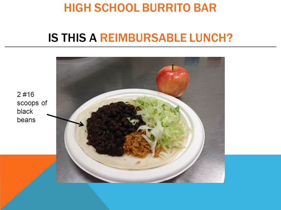 High School Burrito bar is this a reimbursable lunch