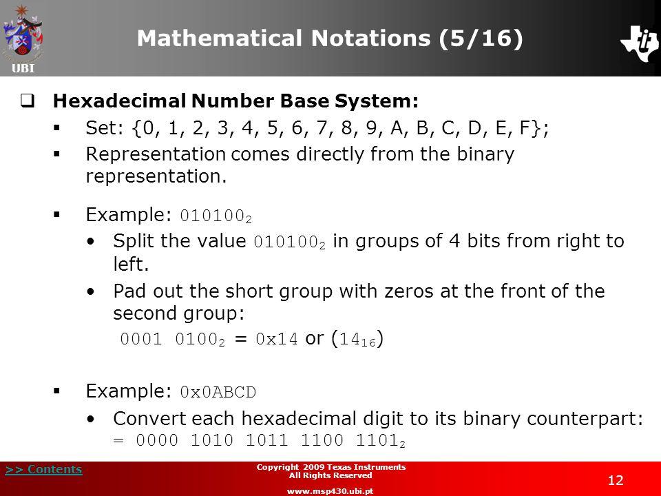 Mathematical Notations (5/16)