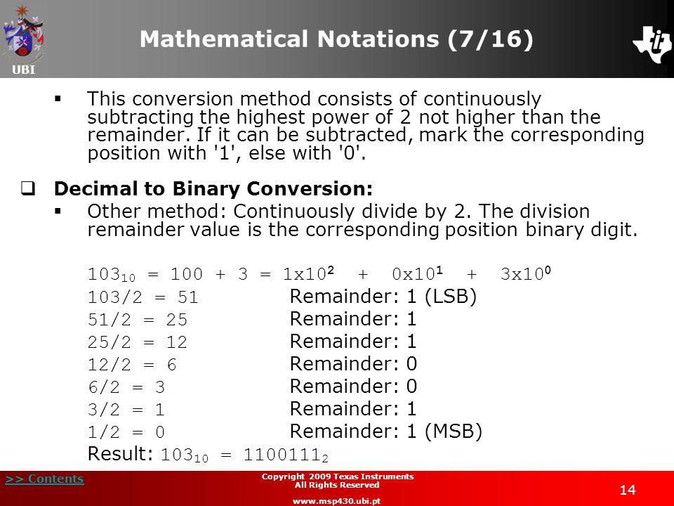 Mathematical Notations (7/16)