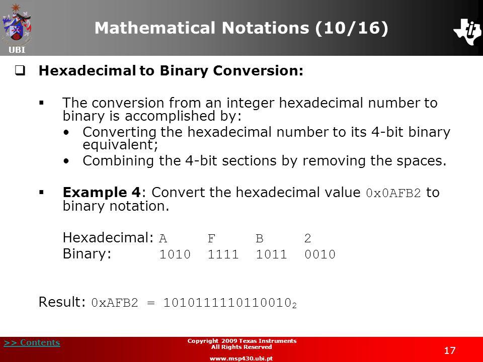 Mathematical Notations (10/16)