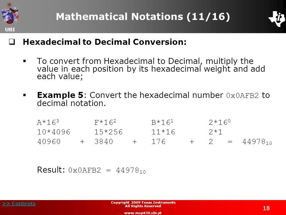 Mathematical Notations (11/16)