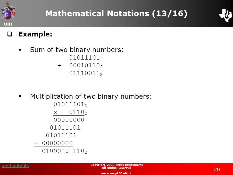 Mathematical Notations (13/16)