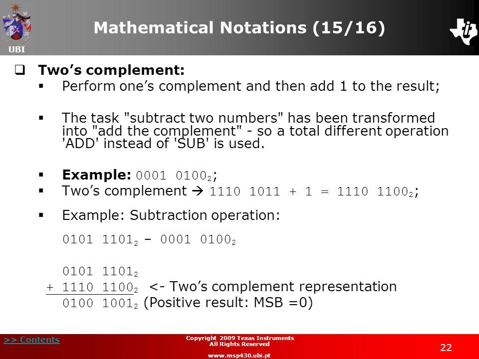 Mathematical Notations (15/16)