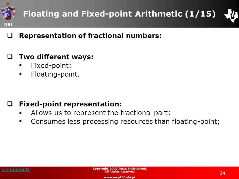 Floating and Fixed-point Arithmetic (1/15)