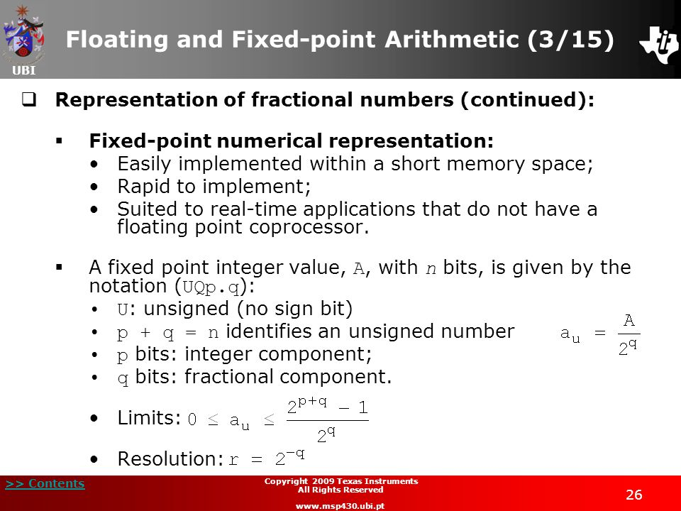 Floating and Fixed-point Arithmetic (3/15)