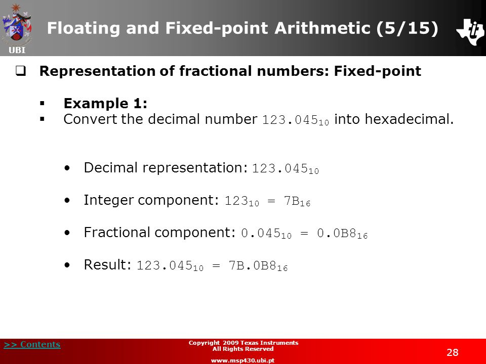 Floating and Fixed-point Arithmetic (5/15)