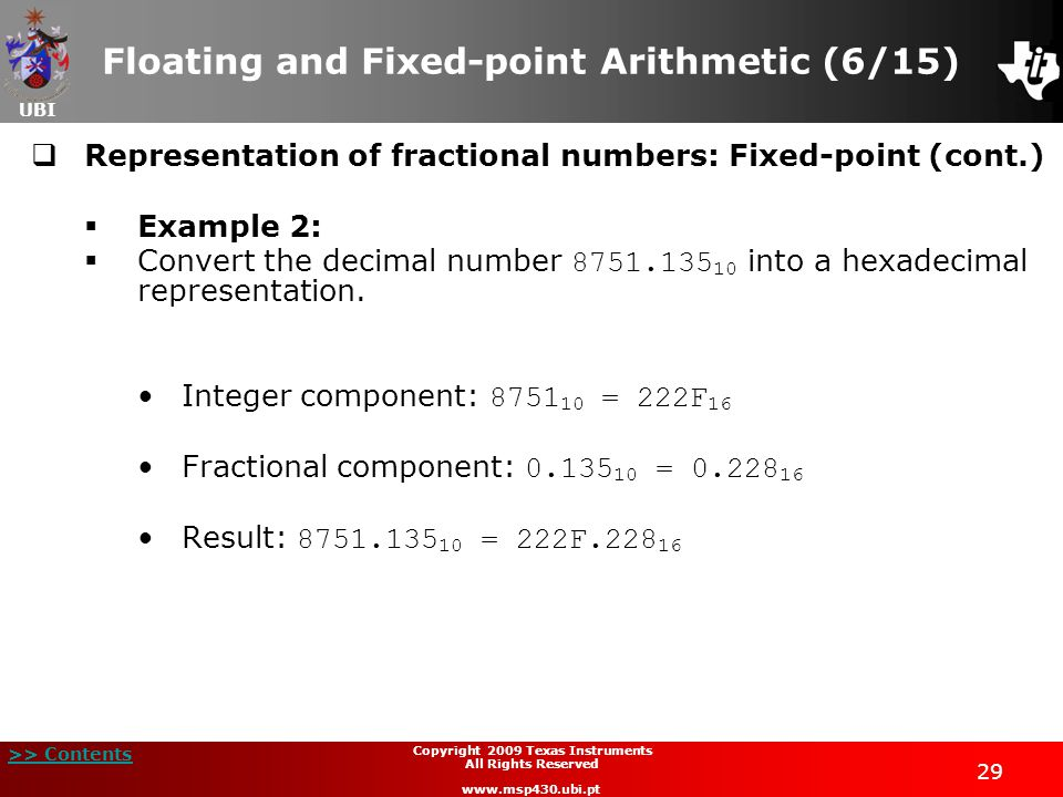 Floating and Fixed-point Arithmetic (6/15)