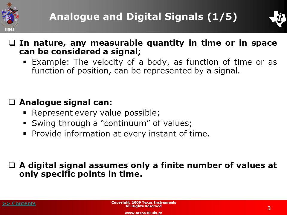 Analogue and Digital Signals (1/5)