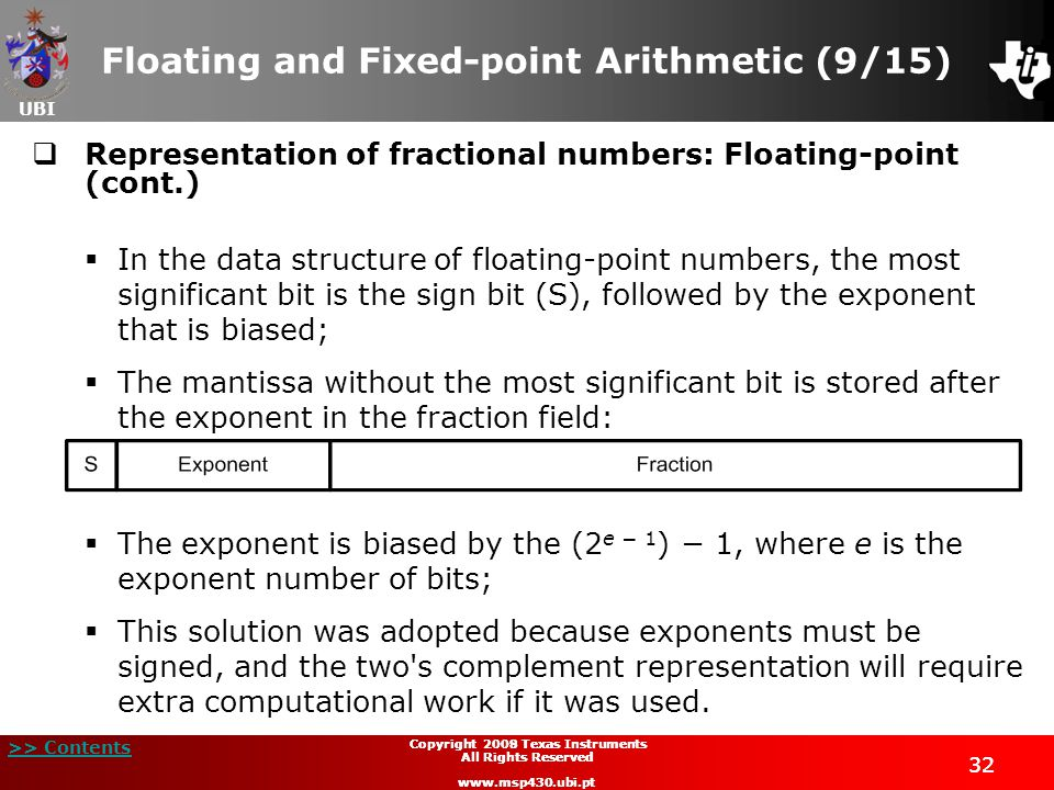 Floating and Fixed-point Arithmetic (9/15)
