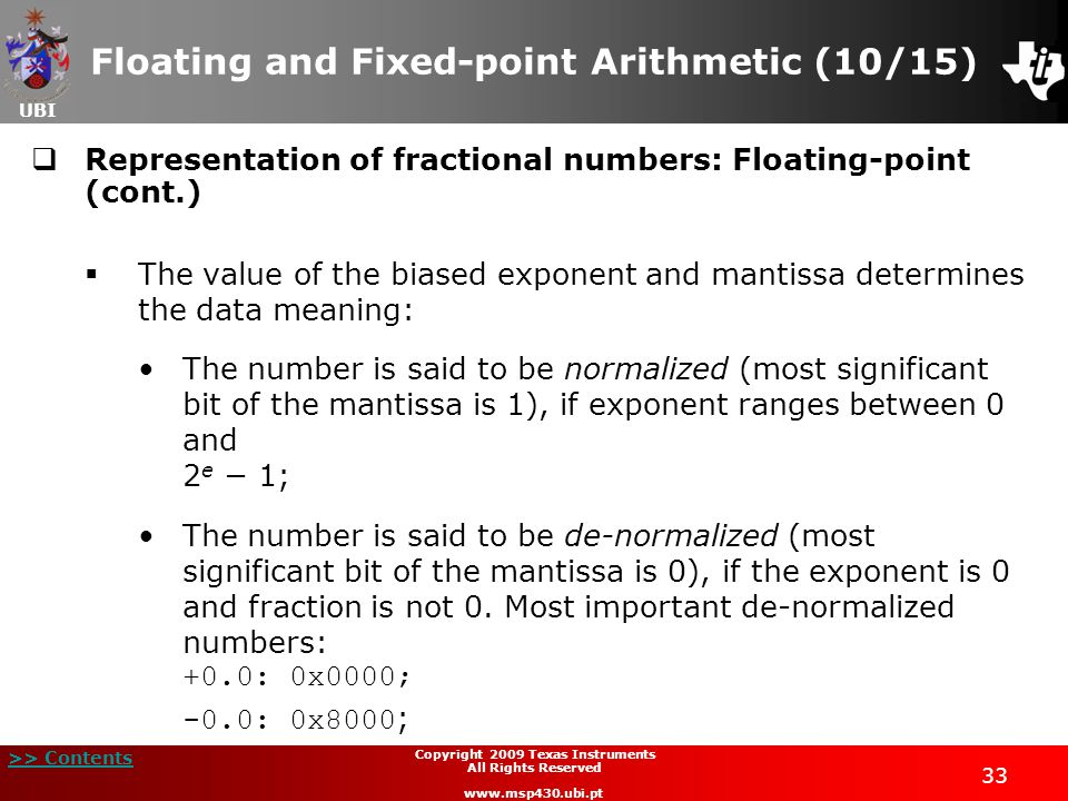 Floating and Fixed-point Arithmetic (10/15)