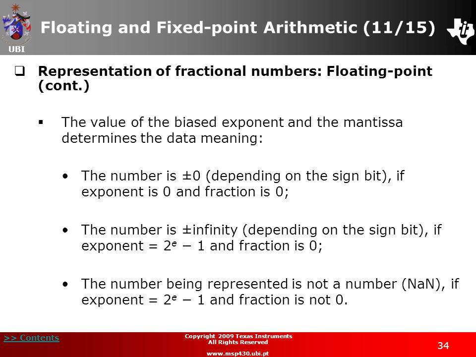 Floating and Fixed-point Arithmetic (11/15)