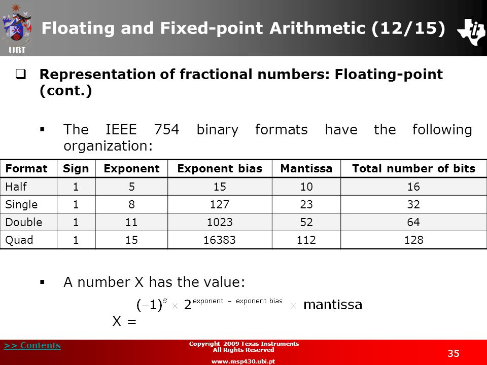 Floating and Fixed-point Arithmetic (12/15)