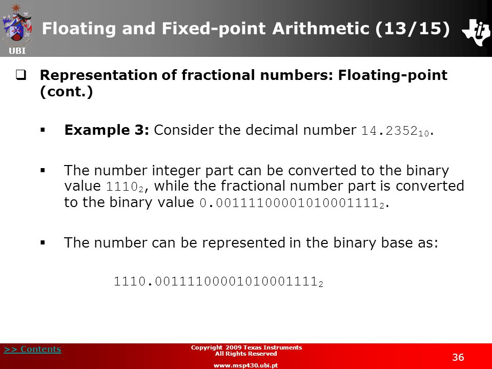 Floating and Fixed-point Arithmetic (13/15)