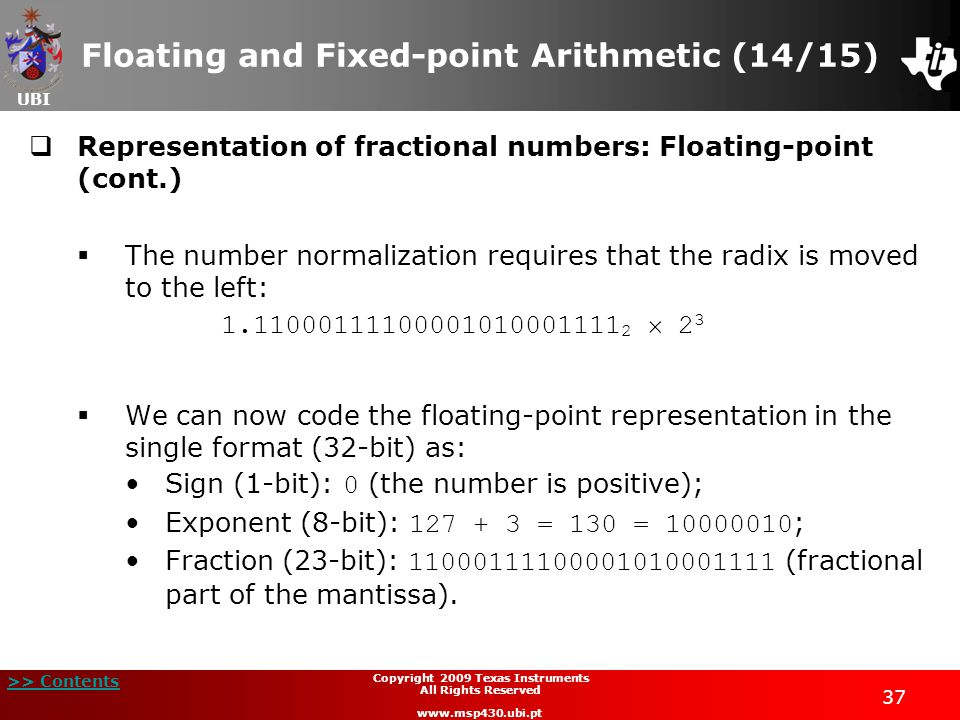 Floating and Fixed-point Arithmetic (14/15)