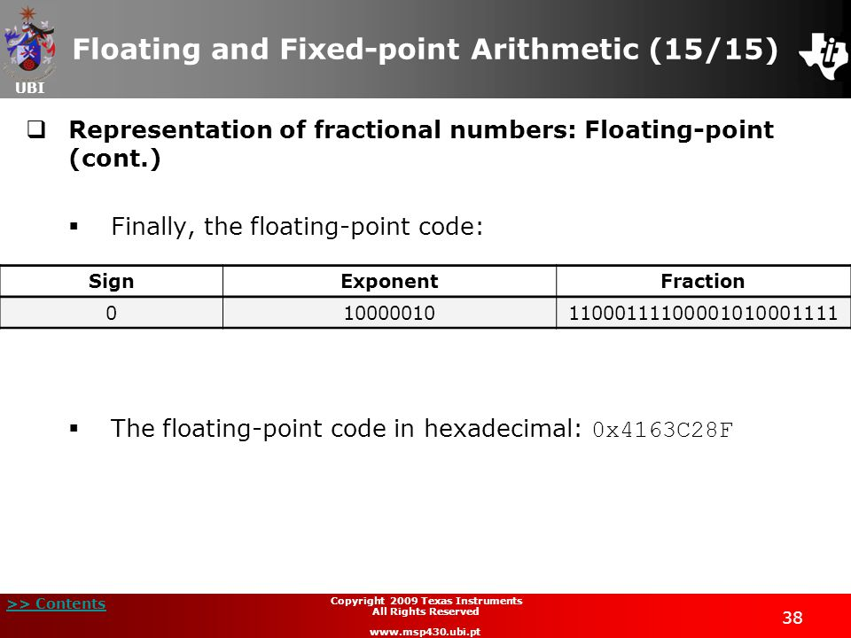 Floating and Fixed-point Arithmetic (15/15)