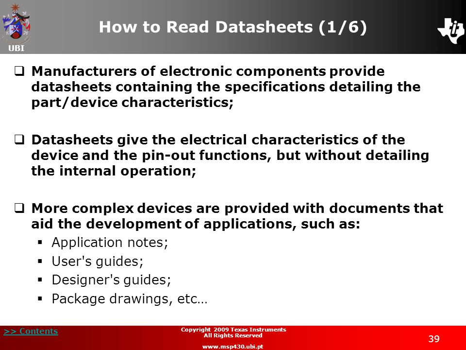 How to Read Datasheets (1/6)