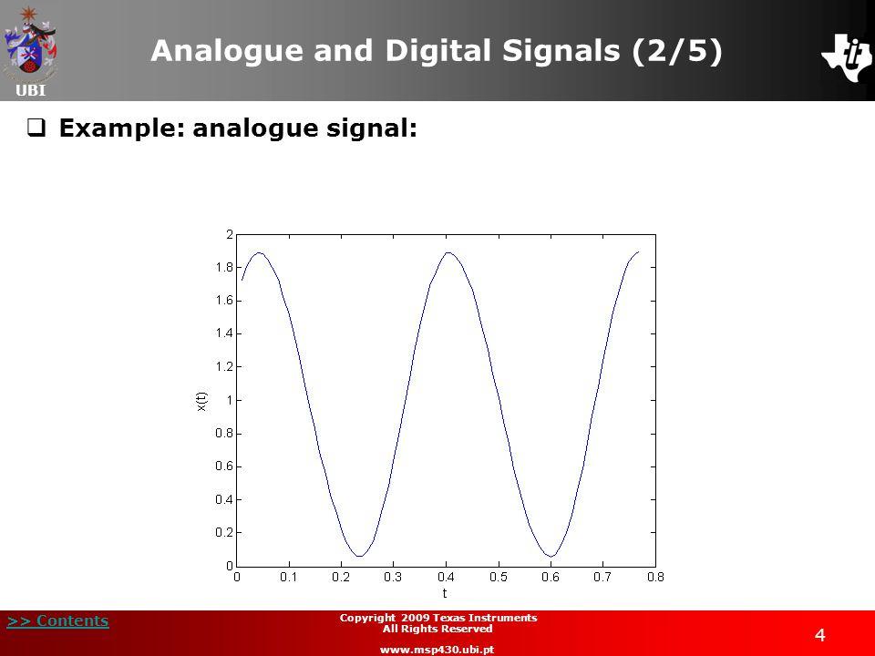 Analogue and Digital Signals (2/5)